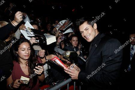 "Alex Meraz Alex Meraz arrives at the world premiere of ""The Twilight Saga: Breaking Dawn - Part 1"", in Los Angeles"