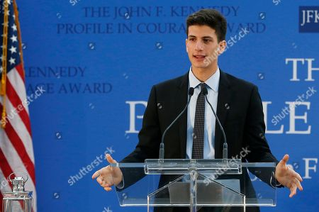 Jack Schlossberg Jack Schlossberg speaks before presenting the John F. Kennedy Profile in Courage Award at the John F. Kennedy Presidential Library in Boston, . The award was presented to Connecticut Gov. Dannel P. Malloy for his vocal support of refugee resettlement