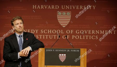 Rand Paul Sen. Rand Paul, R-Ky. pauses before answering a question during his public address at the John F. Kennedy Jr. Forum Institute of Politics at the Harvard Kennedy School, in Cambridge, Mass. Fighting to move beyond his father's shadow, Paul is crafting new alliances with the Republican Party establishment during a Northeast tour that began Friday in Boston. The 51-year-old Kentucky Republican, son of libertarian hero and former Texas Rep. Ron Paul, headlined an afternoon luncheon hosted by top lieutenants of former presidential nominee Mitt Romney _ a private meeting that comes as Paul weighs a 2016 presidential bid of his own