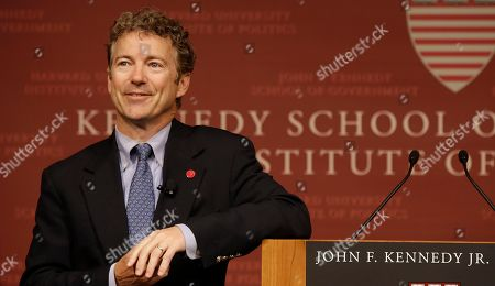 Rand Paul Sen. Rand Paul, R-Ky. smiles as he listens to a question during his public address at the John F. Kennedy Jr. Forum Institute of Politics at the Harvard Kennedy School, in Cambridge, Mass. Fighting to move beyond his father's shadow, Paul is crafting new alliances with the Republican Party establishment during a Northeast tour that began Friday in Boston. The 51-year-old Kentucky Republican, son of libertarian hero and former Texas Rep. Ron Paul, headlined an afternoon luncheon hosted by top lieutenants of former presidential nominee Mitt Romney _ a private meeting that comes as Paul weighs a 2016 presidential bid of his own