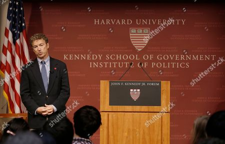 Rand Paul Sen. Rand Paul, R-Ky. listens to a question during his public address at the John F. Kennedy Jr. Forum Institute of Politics at the Harvard Kennedy School, in Cambridge, Mass. Fighting to move beyond his father's shadow, Paul is crafting new alliances with the Republican Party establishment during a Northeast tour that began Friday in Boston. The 51-year-old Kentucky Republican, son of libertarian hero and former Texas Rep. Ron Paul, headlined an afternoon luncheon hosted by top lieutenants of former presidential nominee Mitt Romney _ a private meeting that comes as Paul weighs a 2016 presidential bid of his own