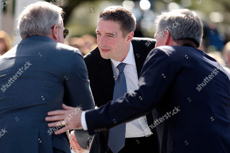 Stock Image of Ron Reagan Ron Reagan son of former U.S. President Ronald Reagan greets guests during the centennial birthday celebration for former US President Ronald Reagan at the Ronald Reagan Presidential Library, in Simi Valley, Calif, on Sunday Feb. 6,2011