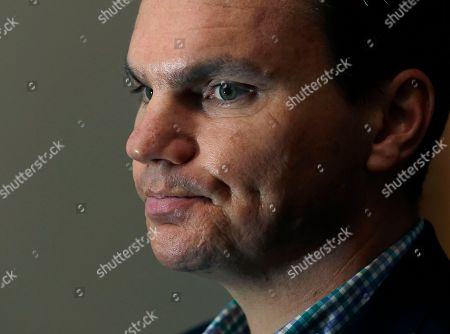 Ben Cherington Boston Red Sox baseball Executive Vice-President/General Manager Ben Cherington reacts during an interview at Fenway Park in Boston, hours after the team announced that Manager Bobby Valentine will not return in 2013. The Red Sox finished their season in last place for the first time in 20 years
