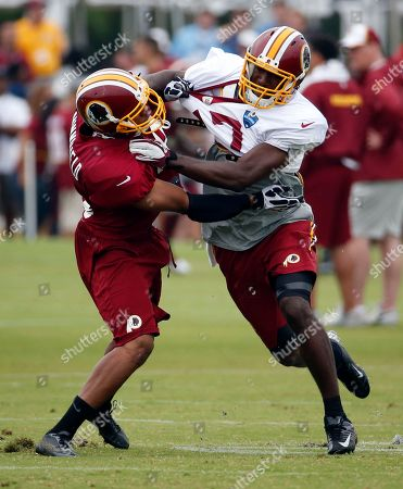 Chase Minnifield, Rashad Lawrence Washington Redskins defensive back Chase Minnifield, left, works against receiver Rashad Lawrence during practice at the team's NFL football training facility, in Richmond, Va