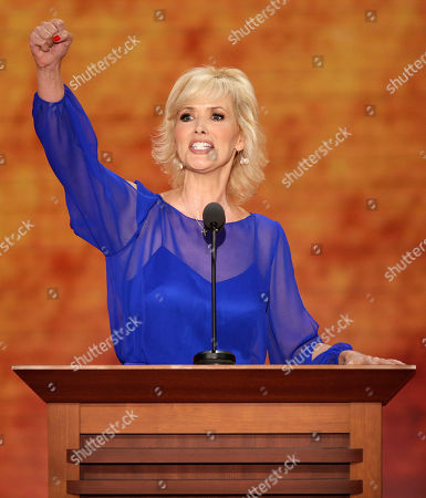 Stock Photo of Janine Turner Actress Janine Turner addresses the Republican National Convention in Tampa, Fla., on