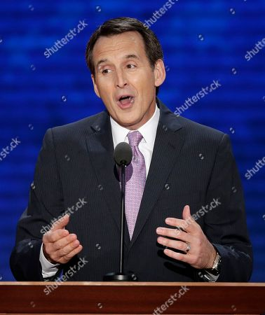 Stock Photo of Tim Pawlenty Former Minnesota Governor Tim Pawlenty addresses the Republican National Convention in Tampa, Fla., on