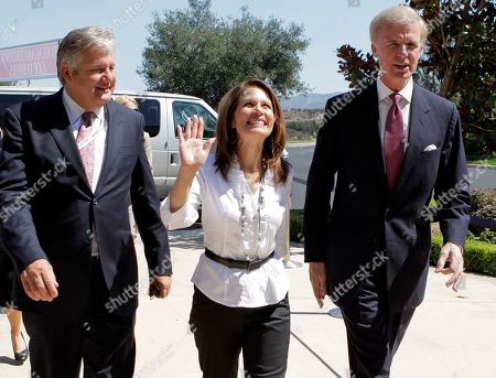 Michele Bachman, Marcus Bachmann, Frederick J. Ryan Republican presidential candidate Rep. Michele Bachmann, R-Minn., center, is joined by husband Marcus, left, and Frederick J. Ryan, Jr., chairman of the Ronald Reagan President Foundation, as she arrives for a Republican presidential candidate debate at the Reagan Library, in Simi Valley, Calif