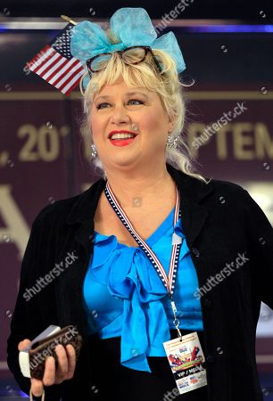 Victoria Jackson Actress Victoria Jackson takes part in a rally before a Republican presidential debate, in Tampa, Fla
