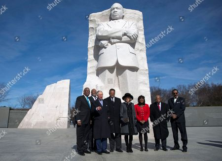 Prince of Wales, Duchess of Cornwall, Jesse Jackson, Terri Sewell, John Lewis, D-Ga., Harry Johnson, Guy Vickers From left, Harry Johnson President and CEO of the Washington, D.C. Martin Luther King, Jr. National Memorial Project Foundation, Inc., President Of The Tommy Hilfiger Corporate Foundation Guy Vickers, the Prince of Wales, Rev. Jesse Jackson, the Duchess of Cornwall, Rep. Terri Sewell, D-Ala., Rep. John Lewis, D-Ga., and Ed Jackson Jr., Executive Architect stops to pose for a photograph as they tour the Martin Luther King, Jr. Memorial, in Washington