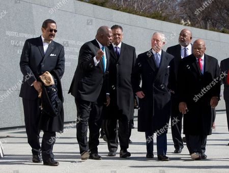 Prince of Wales, Jesse Jackson, John Lewis, D-Ga., Harry Johnson, Guy Vickers From left, Ed Jackson Jr., Executive Architect, Harry Johnson President and CEO of the Washington, D.C. Martin Luther King, Jr. National Memorial Project Foundation, Inc., Rev. Jesse Jackson, he Prince of Wales, President Of The Tommy Hilfiger Corporate Foundation Guy Vickers, and Rep. John Lewis, D-Ga., tour the Martin Luther King, Jr. Memorial, in Washington
