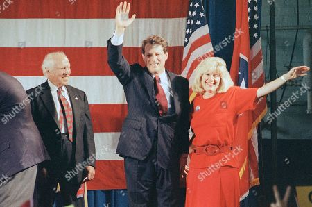 Al Gore, Tipper Gore Former Tennessee Sen. Al Gore, Sr. left, attends a rally for his son, Democratic vice presidential nominee Sen. Al Gore Jr., and his wife, Tipper, in Nashville, Tenn. in July 1992. The senior Gore has been active making speeches and shaking hands on behalf of his son