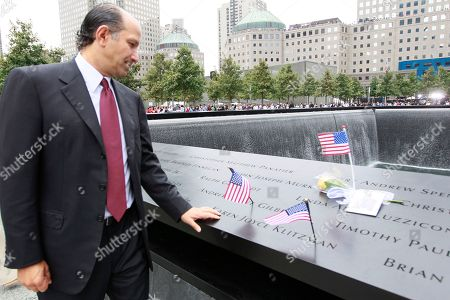 Howard Lutnick Cantor Fitzgerald CEO Howard Lutnick pays his respects to Cantor Fitzgerald employees at the north pool of the National September 11 Memorial during a ceremony marking the 10th anniversary of the attacks at World Trade Center, in New York