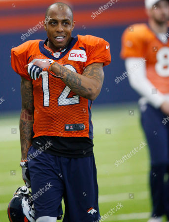 Andre Caldwell Denver Broncos wide receiver Andre Caldwell takes a break during NFL football practice, in Englewood, Colo. The Broncos are preparing to face the Carolina Panthers in Super Bowl 50 on Sunday, Feb. 7, in Santa Clara, Calif