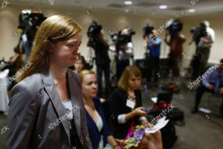 """Abigail Fisher Abigail Fisher, who sued the University of Texas when she was not offered a spot at the university's flagship Austin campus in 2008, arrives for a news conference at the American Enterprise Institute in Washington, . The U.S. Supreme Court ruling on affirmative action in higher education will have """"no impact"""" on the University of Texas' admissions policy, school president Bill Powers said Monday, noting UT will continue to use race as a factor in some cases"""