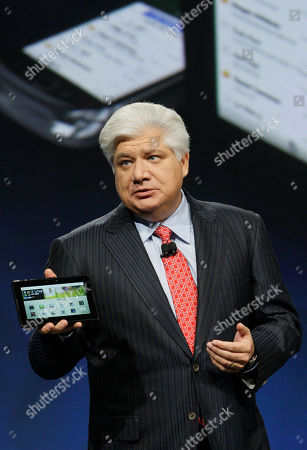 Mike Lazaridis, PlayBook Mike Lazaridis, president and co-CEO of Research in Motion Ltd. (RIM), holds the new PlayBook during the annual BlackBerry developers conference, in San Francisco