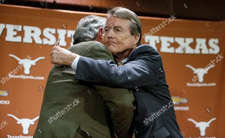 DeLoss Dodds, Bill Powers Texas athletic director DeLoss Dodds, left, is hugged by Texas president Bill Powers, right, following a news conference where Dodds formally announced his retirement, in Austin, Texas. Dodds, who has been with Texas for 32 years, will step down in August 2014