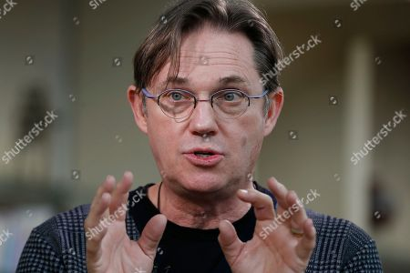 """Richard Thomas FOR USE WITH STORY BY BRETT ZONGKER ** Actor Richard Thomas, who will play President Jimmy Carter in the upcoming play """"Camp David"""", is interviewed by the Associated Press at the Arena Stage in Washington, . """"Camp David"""" is a play about the 13 tumultuous days at the that led up to the historic peace agreement between Menachem Begin and Anwar Sadat in 1978"""