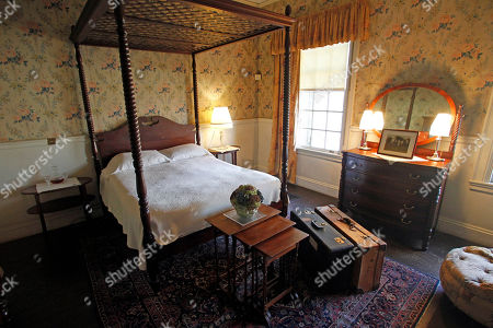 This photo shows the Taft bedroom at the Robert Todd Lincoln mansion Hildene in Manchester, Vt. The Georgian Revival home was built in 1905 by Robert Todd Lincoln, the only one of the president's four children to survive to adulthood