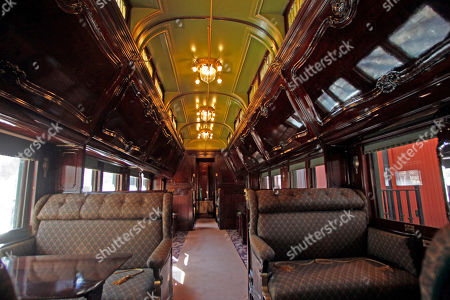 This photo shows the interior of the Pullman car owned by Robert Todd Lincoln at the Robert Todd Lincoln mansion Hildene in Manchester, Vt. The Georgian Revival home was built in 1905 by Robert Todd Lincoln, the only one of the president's four children to survive to adulthood