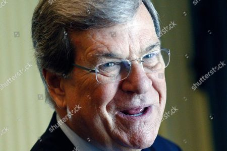 """Trent Lott Former U.S. Senate Majority Leader Trent Lott, R-Miss., laughs at his own comment about the Republican presidential race prior to addressing an audience at the Old Capitol Museum in Jackson, Miss., at an event called """"History is Lunch."""" During his address, Lott discussed the current state of politics in Washington, his reaction to the presidential races, and his friendship with Democratic former Sen. Tom Daschle of South Dakota, with whom he wrote a book"""