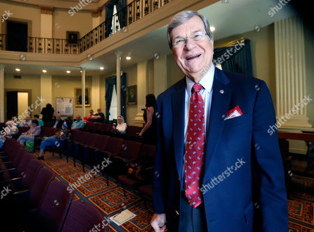 """Trent Lott Former U.S. Senate Majority Leader Trent Lott, R-Miss., laughs at his own comment about the Republican presidential race prior to addressing an audience at the Old Capitol Museum in Jackson, Miss., at an event called """"History is Lunch."""" Lott says he will vote for Donald Trump for president, though he acknowledges he didn't expect the New York businessman to win the Republican nomination"""