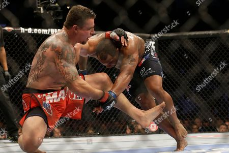 Frank Mir, Daniel Cormier Daniel Cormier, right, fights Frank Mir during a UFC heavyweight mixed martial arts fight in San Jose, Calif., . Cormier won by unanimous decision