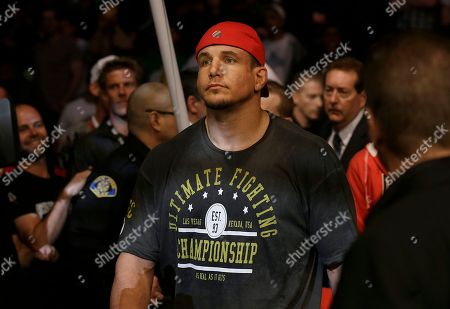 Frank Mir Frank Mir walks to the ring before fighting Daniel Cormier in a UFC heavyweight mixed martial arts fight in San Jose, Calif