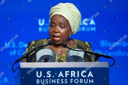 Nkosazana Clarice Dlamini Zuma Nkosazana Clarice Dlamini Zuma, chair of the African Union Commission, speaks during the US Africa Business Forum at the US Africa Leaders Summit in the Mandarin Oriental Hotel, in Washington, . Nearly 50 African heads of state are gathering in Washington for an unprecedented summit