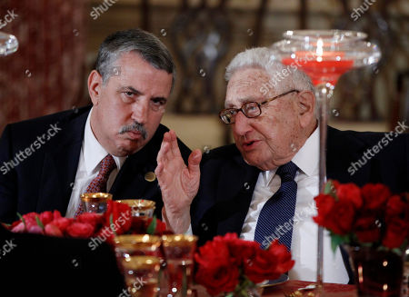 Tom Friedman, Henry Kissinger New York Times columnist Thomas L. Friedman, left, talks with former Secretary of State Henry Kissinger during a lunch for Chinese Vice President Xi Jinping, hosted by Vice President Joe Biden and Secretary of State Hillary Rodham Clinton, at the State Department in Washington