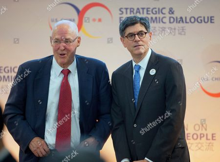 Henry Paulson, Jack Lew Former Treasury Secretary Henry Paulson, left, and Treasury Secretary Jack Lew, right, meet on stage at the 7th US China Strategic and Economic Dialogue (S&ED) and 6th Consultation on People-to-People (CPE) at the U.S. State Department in Washington
