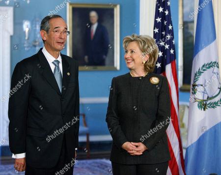 Hillary Rodham Clinton, Alvaro Colom Caballeros Secretary of State Hillary Rodham Clinton and Guatemalan President Alvaro Colom Caballeros, meet at the State Department in Washington