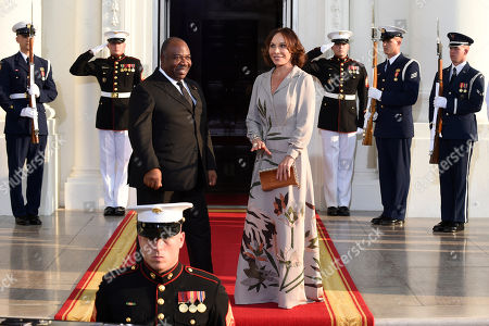 Stock Picture of Peter Selfridge Ali Bongo Ondimba, President of the Gabonese Republic and his wife Sylvia Bongo Ondimba, arrive for a dinner hosted by President Barack Obama for the U.S. Africa Leaders Summit, . African heads of state are gathering in Washington for an unprecedented summit to promote business development