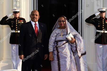 Ikililou Dhoinine, Hadidja Abubakar Ikililou Dhoinine Ikililou Dhoinine, President of the Union of the Comoros and his wife Hadidja Abubakar Ikililou Dhoinine arrive for a dinner hosted by President Barack Obama for the U.S. Africa Leaders Summit, . African heads of state are gathering in Washington for an unprecedented summit to promote business development