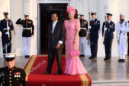 Paul Biya, Chantal Biya Cameroon President Paul Biya and his wife Chantal arrive for a dinner hosted by President Barack Obama for the U.S. Africa Leaders Summit, . African heads of state are gathering in Washington for an unprecedented summit to promote business development