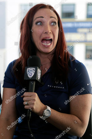 Amy Van Dyken Former Olympic swimmer Amy Van Dyken jokes with her husband Tom Rouen as he takes pictures of her return to broadcasting, in Berkeley, Calif. The six-time Olympic gold medal swimmer returned to work with the Pac-12 Networks on Friday, nearly eight months after an all-terrain vehicle accident left her paralyzed from the waist down
