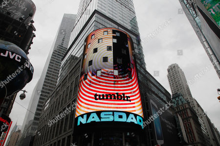David Karp The Tumblr logo is displayed at Nasdaq, in New York after the company's CEO David Karp rang the opening bell. Yahoo acquired the online blogging forum for $1.1 billion in June. Tumblr will remain independently operated and Karp will stay CEO