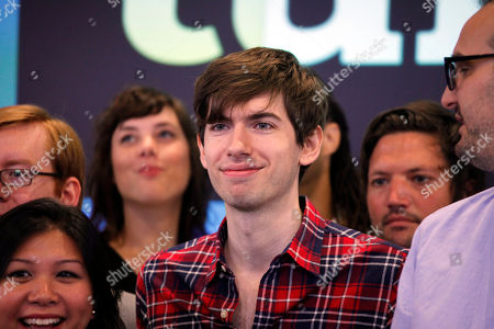 David Karp David Karp, Founder and CEO of Tumblr, poses for photos with company employees before the opening bell at Nasdaq, in New York. Yahoo acquired the online blogging forum for $1.1 billion in June. Tumblr will remain independently operated and Karp will stay CEO