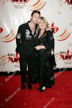 Jullian Lennon and mother Cynthia Lennon