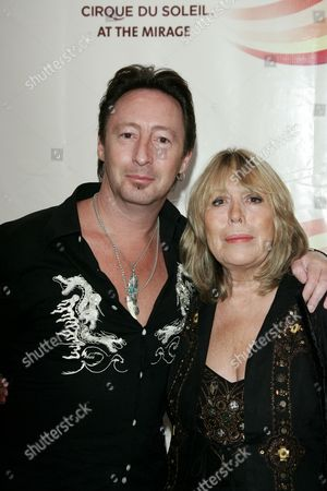 Julian Lennon and Mother Cynthia Lennon