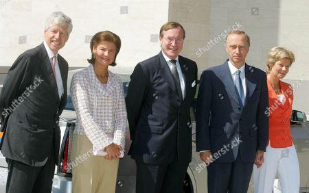 Prince Nikolaus and Princess Margaretha, Prince Jean, Archduke Christian and Archduchess Marie Astrid