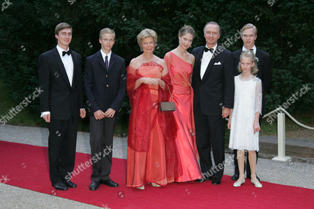 Archduchess Marie Astrid and Archduke Christian with family