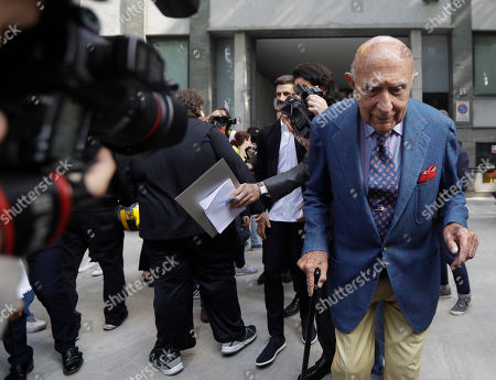 Beppe Modenese Honorary president of the Italian Fashion chamber, Beppe Modenese leaves the building where Giorgio Armani women's Spring-Summer 2017 collection was presented, in Milan, Italy