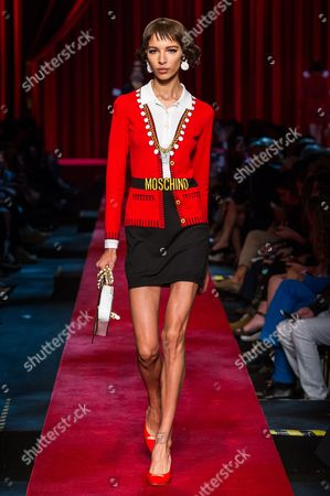 Stock Picture of Alice Metza on the catwalk