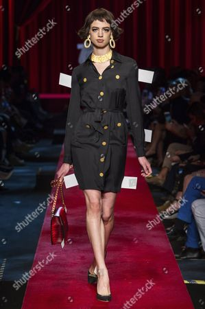 Stock Image of Lily McMenamy on the catwalk