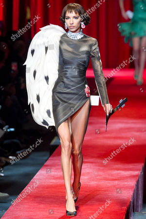 Editorial image of Moschino show, Runway, Spring Summer 2017, Milan Fashion Week, Italy - 22 Sep 2016