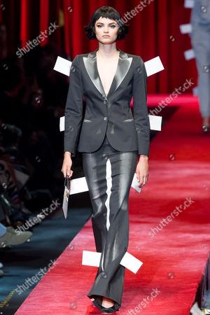 Editorial photo of Moschino show, Runway, Spring Summer 2017, Milan Fashion Week, Italy - 22 Sep 2016