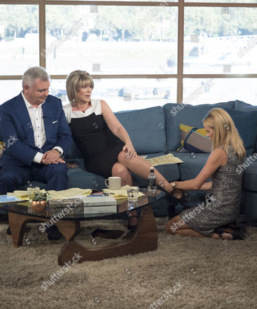 Eamonn Holmes and Ruth Langsford with Amanda Holden