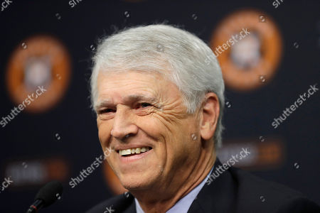 Bill Brown Houston Astros broadcaster Bill Brown speaks during a news conference to announce his retirement, in Houston