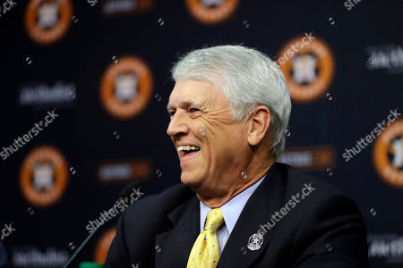 Stock Picture of Bill Brown Houston Astros broadcaster Bill Brown speaks during a news conference to announce his retirement, in Houston