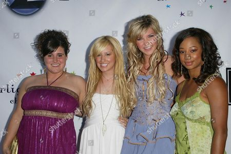 KayCee Stroh and Ashley Tisdale with Kristy Frank and Monique Co
